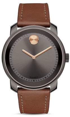 Movado BOLD Museum Dial Watch with Leather Strap, 42.5mm