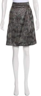 Burberry Brocade Knee-Length Skirt