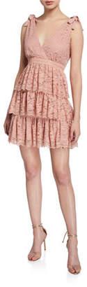 Bardot Roxie Sleeveless Tiered Lace Mini Dress