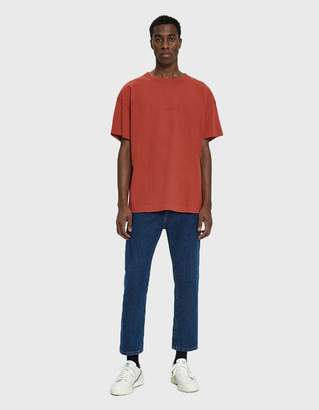 Acne Studios S/S Garment Dyed Tee in Red