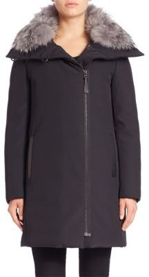 Derek Lam 10 Crosby Fox Fur-Trim Down Parka $775 thestylecure.com