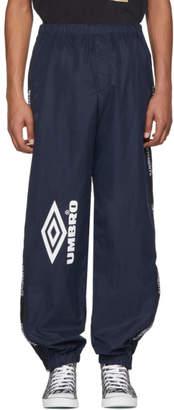 Vetements Navy Umbro Edition Logo Track Pants