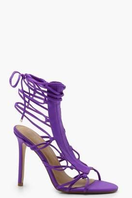 boohoo Cage Gladiator Sandals