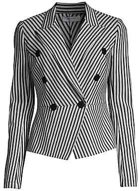 bac9f265d1a5 Bailey 44 Women's Gelato Stripe Double-Breasted Peplum Jacket