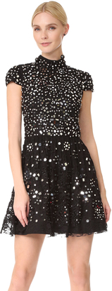 alice + olivia Maureen Embroidered Party Dress $1,095 thestylecure.com