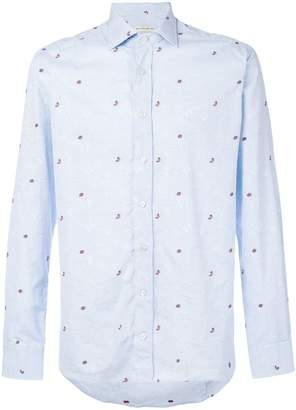 Etro butterfly and ladybird embroidered shirt