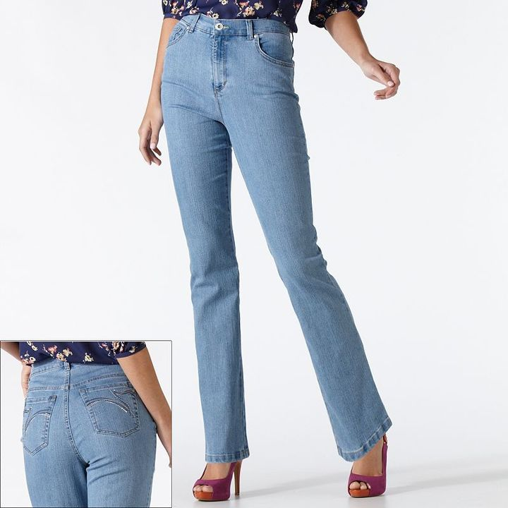 Gloria Vanderbilt amanda embellished slimming tapered jeans