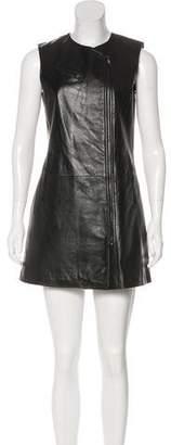 Neiman Marcus Leather Biker Dress