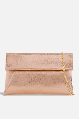 Couture Womens   Metallic Envelope Clutch Bag By Koko Champagne 6fa4a5ed4018c