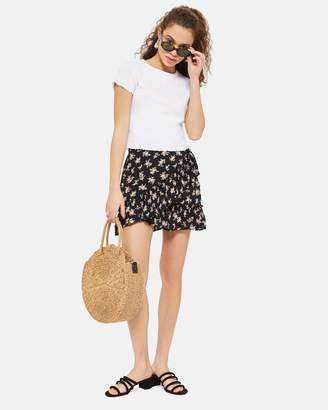 Topshop Ditsy Bouquet Frill Mini Skirt