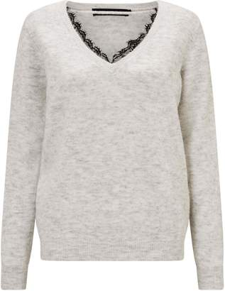 Next Womens Vero Moda Long Sleeve V neck Lace Jumper