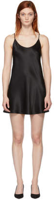 La Perla Black Silk Short Slip Dress