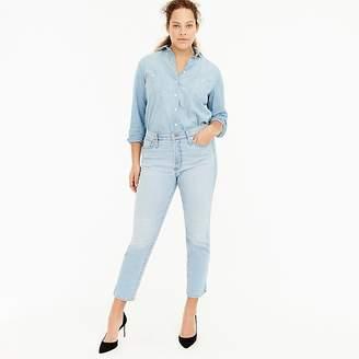 J.Crew Petite vintage straight jean with slit hems