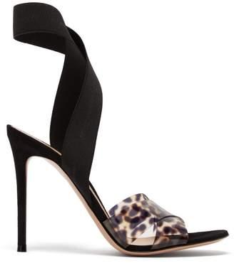 307e8c46d Gianvito Rossi Plexi 105 Leopard Print Sandals - Womens - Leopard