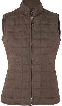 James Purdey & Sons - Quilted Cotton Vest - Army green