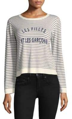 Joie Verbina Striped Crewneck Sweater