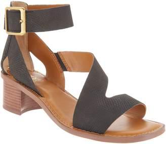 Franco Sarto Leather Block Heel Sandals - Lorelia