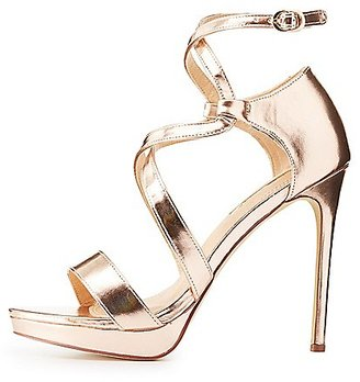 Metallic Caged Dress Sandals $35.99 thestylecure.com