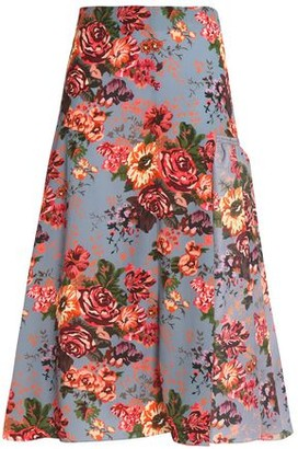Emilia Wickstead Floral-Print Georgette Midi Skirt