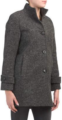 Petite Tweed Wool Coat