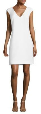 Polo Ralph Lauren Crepe V-Neck Shift Dress $245 thestylecure.com