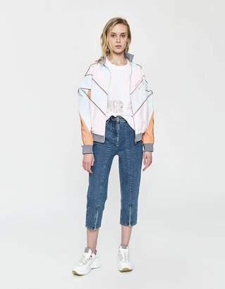 Aalto Cropped Zipper Jean in Blue