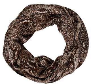 By Malene Birger Animal Print Infinity Scarf