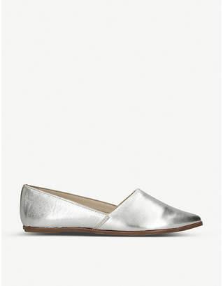 Aldo Blanchette metallic leather flats