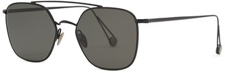 AHLEM Concorde Oval-frame Sunglasses
