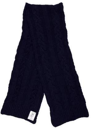 Moncler Gamme Bleu Cable Knit Wool Scarf