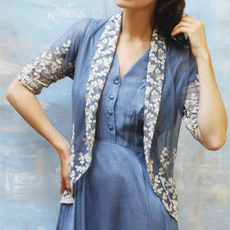 M·A·C Nancy Mac Embroidered Lace Vintage Style Tea Jacket