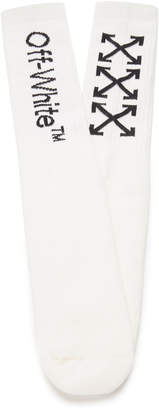 Off-White Arrow Cotton-Blend Socks