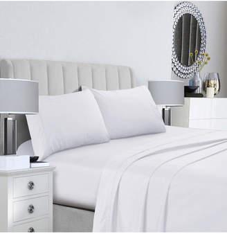 Tribeca Living 400 Thread Count Cotton Percale Extra Deep Pocket Full Sheet Set