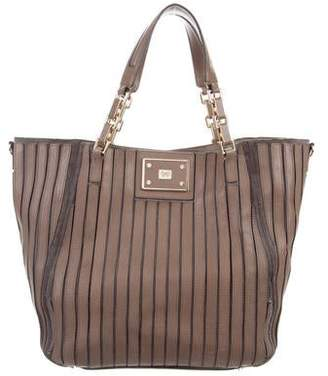 Anya Hindmarch Leather & Suede Paneled Tote