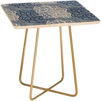 Deny Designs Sketched Grid Side Table