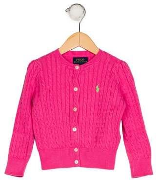 Polo Ralph Lauren Girls' Knit Button-Up Cardigan