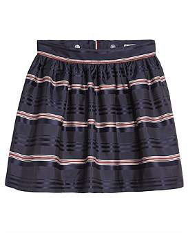 Tommy Hilfiger Signature Satin Stripe Skirt (Girls 3-7 Years)