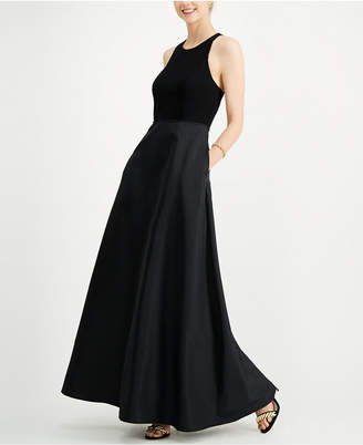 Adrianna Papell Halter Mikado Gown
