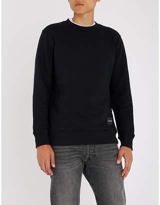 CK Calvin Klein Logo-back panel cotton-jersey sweatshirt