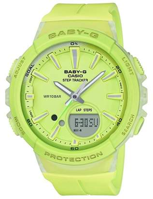 Casio Ladies Green Baby G With Step Counter And Alarm Watch Bgs-100-9Aer