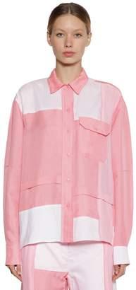 J.W.Anderson Silk & Cotton Patchwork Shirt