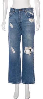 Anine Bing Mid-Rise Straight-Leg Jeans