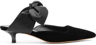 The Row Coco Velvet And Satin Mules - Black