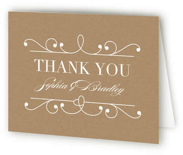 Arabesque Thank You Cards