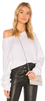 Wildfox Couture Solid Cropped Sweatshirt