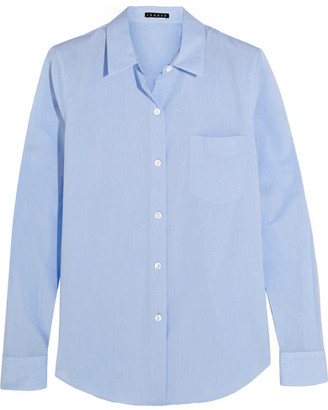 Theory - Perfect Cotton Shirt - Light blue $235 thestylecure.com