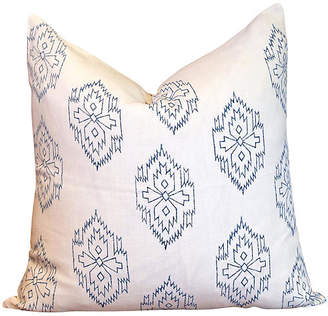 One Kings Lane Vintage Chimalli Aztec Block Print Pillow - de-cor
