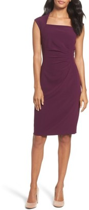 Women's Tahari Crepe Sheath Dress $128 thestylecure.com