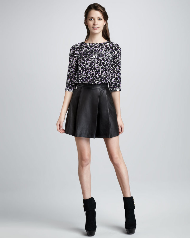 Marc by Marc Jacobs Sergeant Leather Skirt