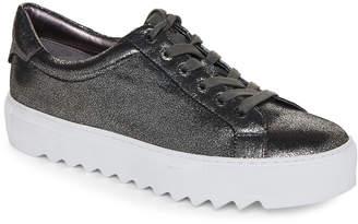 J/Slides Pewter Crinkle Sapphire Metallic Platform Sneakers